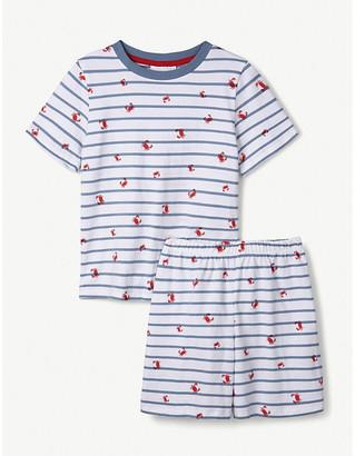 The Little White Company Crab-print cotton pyjamas 1-6 years