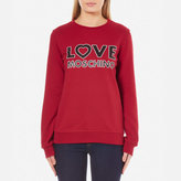 Love Moschino Women's Love Logo Sweatshirt Red