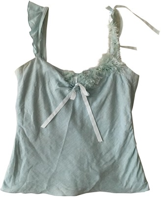 Tara Jarmon Turquoise Linen Top for Women