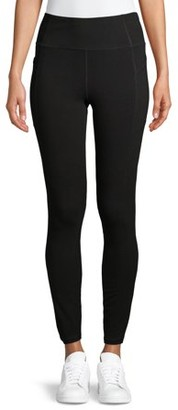Athletic Works Women' s Ankle Tights with Side Pockets