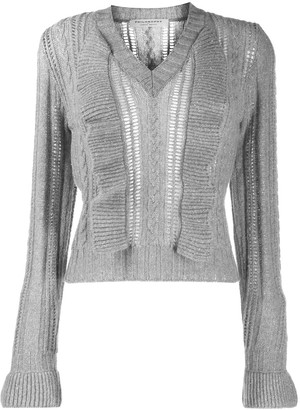 Philosophy di Lorenzo Serafini Ruffle Cable-Knit Jumper