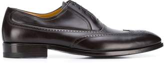 a. testoni embossed oxford shoes