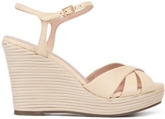 Schutz Ribbed Wedge Sandals