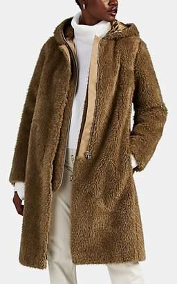 Helmut Lang Women's 2-In-1 Faux-Fur Hooded Coat - Green