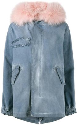 PXiong Women Fur Hooded Single-Breasted Outerwear Long Cotton-Padded Jacket Coat