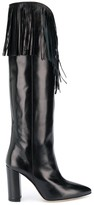 Paris Texas fringed tall boots