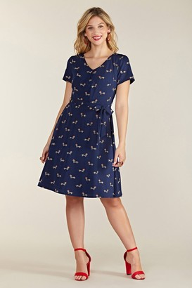 Yumi Sausage Dog Skater Dress