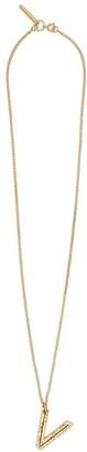 Burberry V alphabet charm necklace