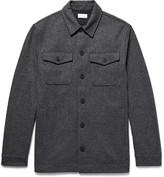 Club Monaco Mélange Brushed Wool-Blend Shirt Jacket