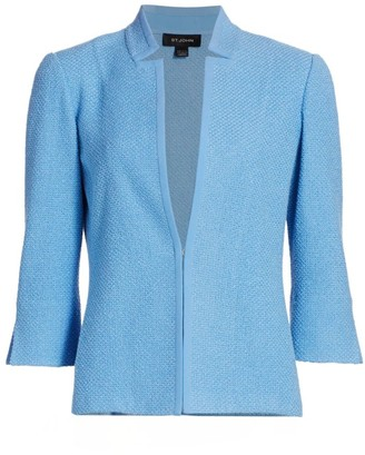 St. John Micro Float Knit Inverted Blazer