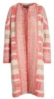 St. John Women's Lofty Knit Plaid Blanket Coat