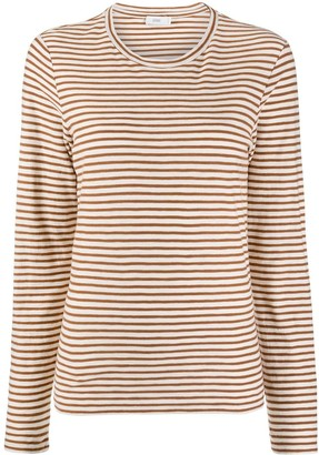 Closed Striped Long Sleeve Top