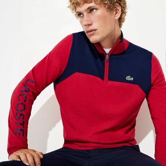 Lacoste Men's SPORT Zip-Up Technical Wool Sweater