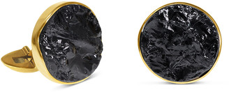 Jorge Adeler Black Tourmaline 18k Gold Cufflinks