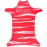 Kenzo KidsGirls Fuchsia Tiger Print Poncho Towel