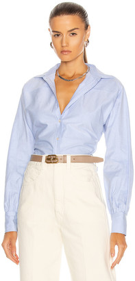 Marissa Webb Emmerson Oxford Shirt in French Blue | FWRD