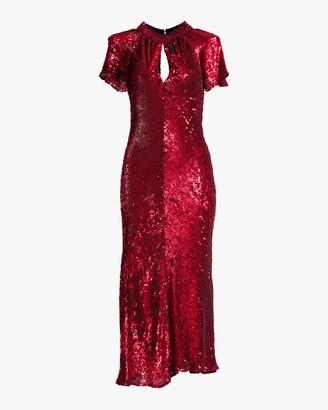Maria Lucia Hohan Hanne Sequin Midi Dress