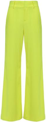 Alice + Olivia Neon Crepe Wide-leg Pants
