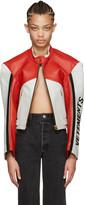 Vetements Tricolor Leather Racing Jacket
