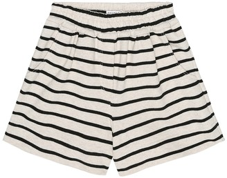 BRUNELLO CUCINELLI KIDS Exclusive to Mytheresa a Striped cotton-jersey shorts