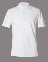 Autograph Supima® Cotton Tailored Fit Bubble Tex Polo Shirt