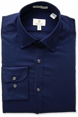 Gant Men's Stretch Plain Sateen Slim Town Shirt