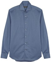 Corneliani Blue Cotton Shirt