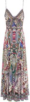 Camilla Knotted Printed Silk Crepe De Chine Maxi Dress
