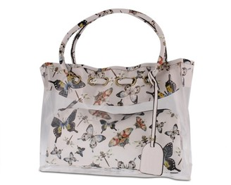 L'artiste By Spring Step Butterflies Leather Tote