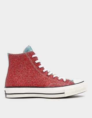 Converse JWA Glitter Chuck 70 Hi Sneaker in Cherry