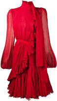 Giambattista Valli ruffle semi-sheer mini dress - women - Silk/Cotton/Polyamide/Viscose - 38