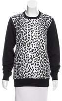 Markus Lupfer Leopard Printed Crew Neck Sweatshirt w/ Tags