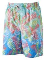 Croft & Barrow Big & Tall Palm Leaf Microfiber Swim Trunks