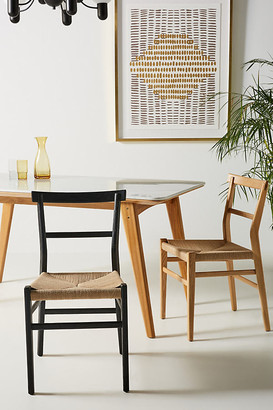 Anthropologie Oak Farmhouse Dining Chair By in Beige Size ALL