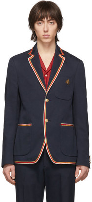 Gucci Navy Whipcord Cover Blazer