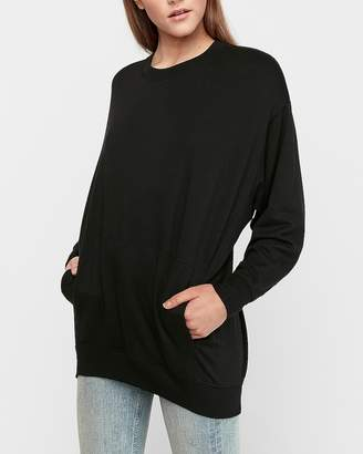 Express Oversized Crew Neck Fleece Sweatshirt
