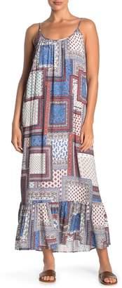 Karen Kane Sleeveless Ruffle Hem Maxi Dress