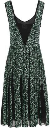 M Missoni Pointelle-trimmed Pleated Jacquard-knit Dress