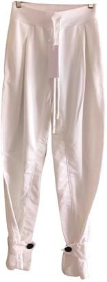 NO KA 'OI No Ka Oi White Cotton Trousers for Women