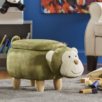 Weston Home Nieuwe Green Monkey Storage Ottoman