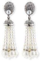 Jose & Maria Barrera Pearly Tassel Drop Clip Earrings
