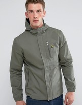 Lyle & Scott Hooded Curved Hem Jacket Green