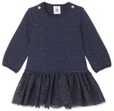 Petit Bateau Baby girls tulle and striped jersey dress