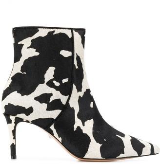 Schutz Animal Pattern Ankle Boots