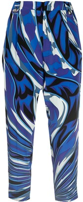 Emilio Pucci Pre-Owned Abstract Print Cropped Trousers