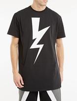 Neil Barrett Lightning Bolt Long-length T-shirt