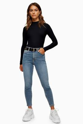 Topshop Womens Petite Bleach Wash Jamie Jeans - Bleach Stone