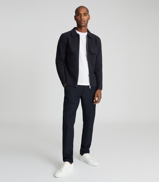 Reiss Roehampton - Zip Through Jacket in Navy