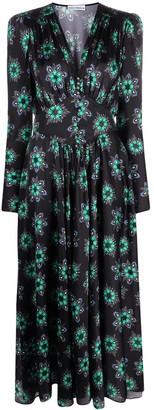 Paco Rabanne Floral-Print Empire Line Dress