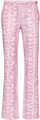 Sies Marjan Karima lizard-pattern trousers